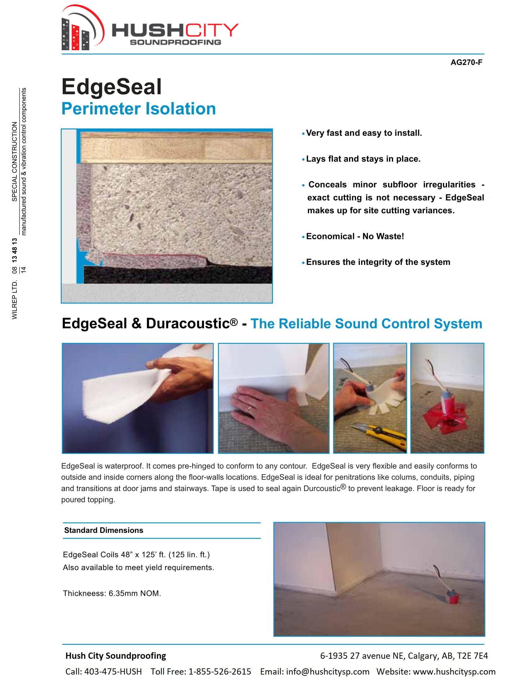 EdgeSeal – Perimeter Isolation – Hush City Soundproofing | Calgary\'s ...