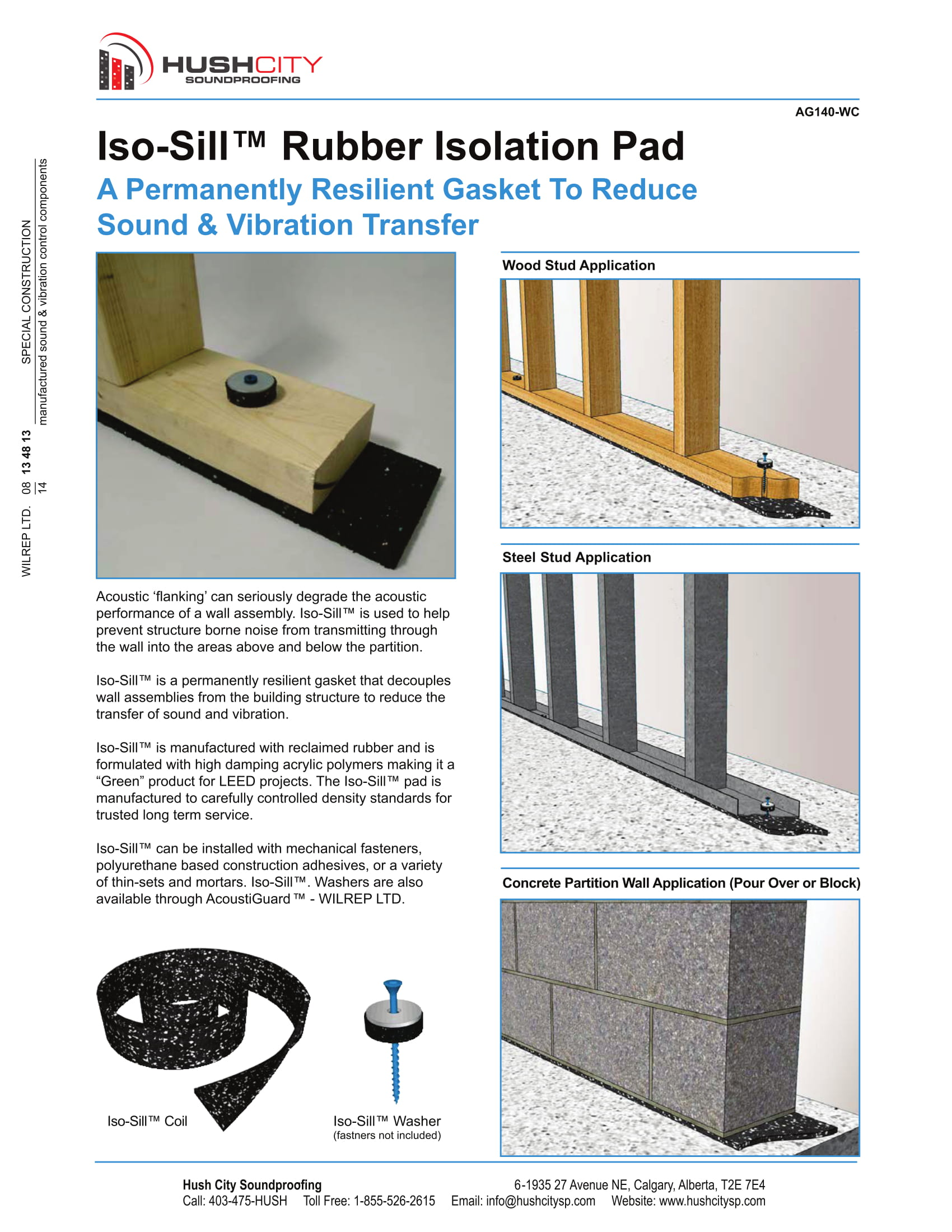 Iso-Sill Plate Isolation – Hush City Soundproofing | Calgary\'s Top ...