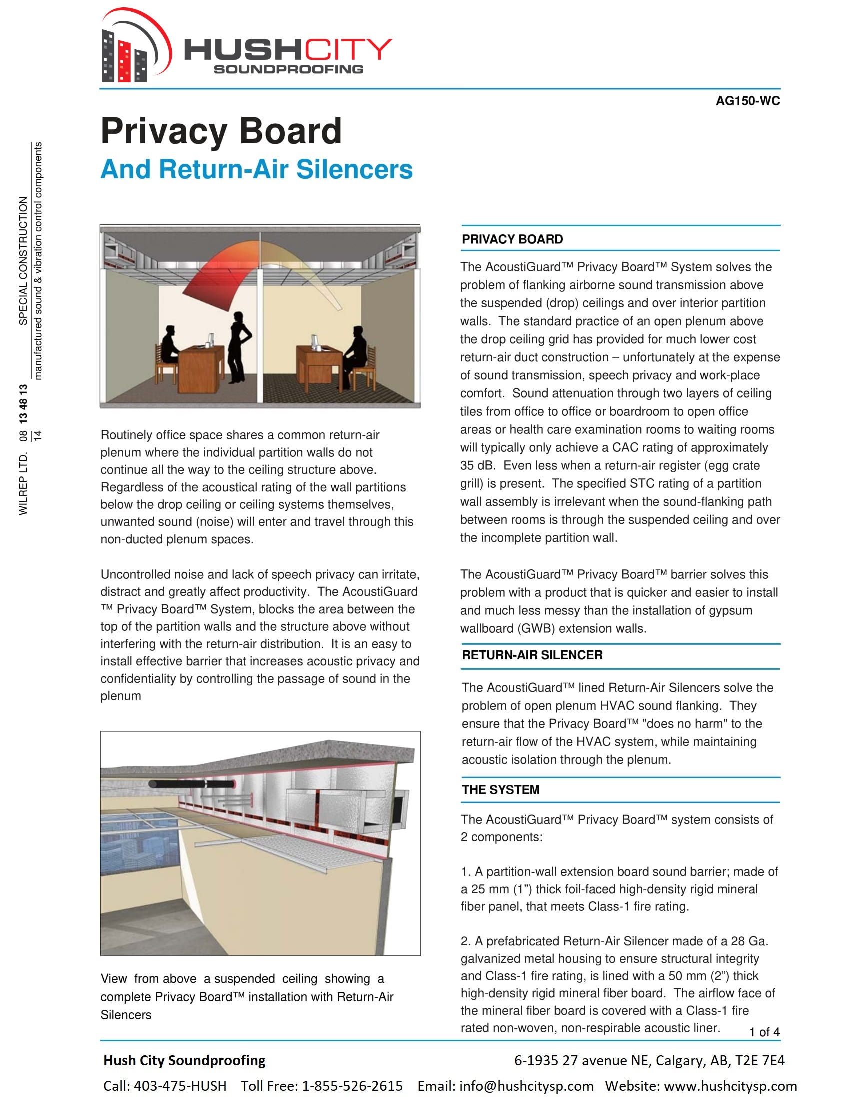 Privacy Board & Return Air Silencers – Hush City Soundproofing ...