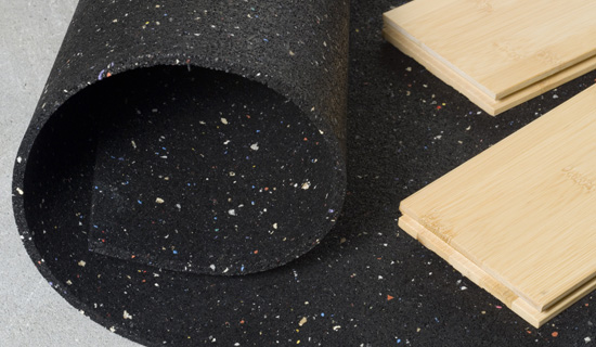 QT Impact Isolation Floor Underlay Hush City - Ceramic tile soundproof underlayment